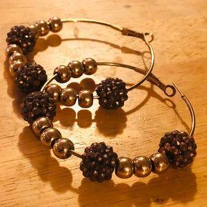 Jewelry - Ball Hoop Earrings